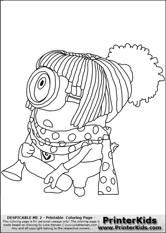 girl minions coloring pages - photo#25
