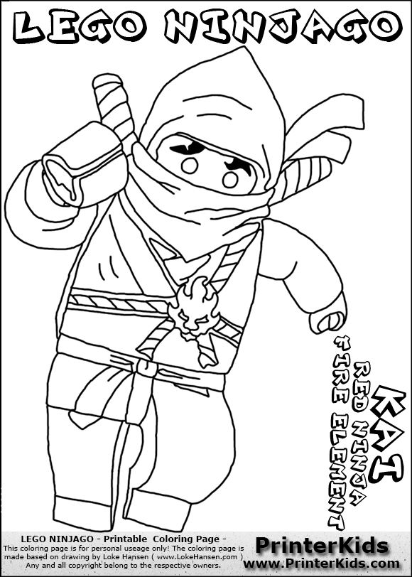 red ninjago coloring pages - free coloring pages of ninjago pythor
